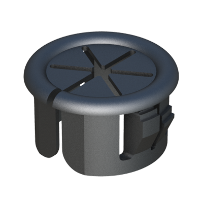 The split design of this open-close bushing allows side entry and encirclement of pre-assembled harnesses, capillary tubes or other assemblies.