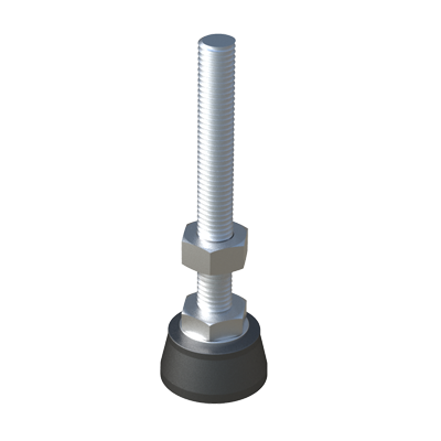 Heavy duty adjustable foot without tilting base
