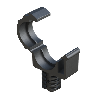 Releasable clamp on fin base