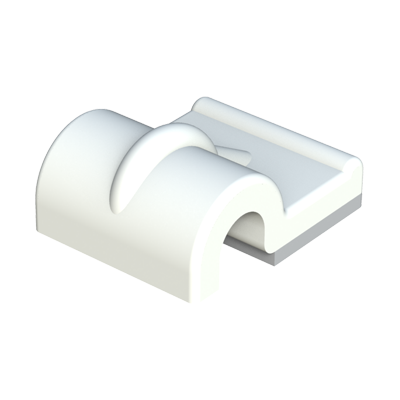Single adhesive cable clip