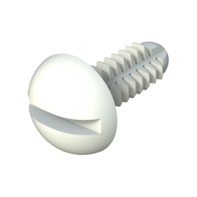 Spin clip - Slotted round screw