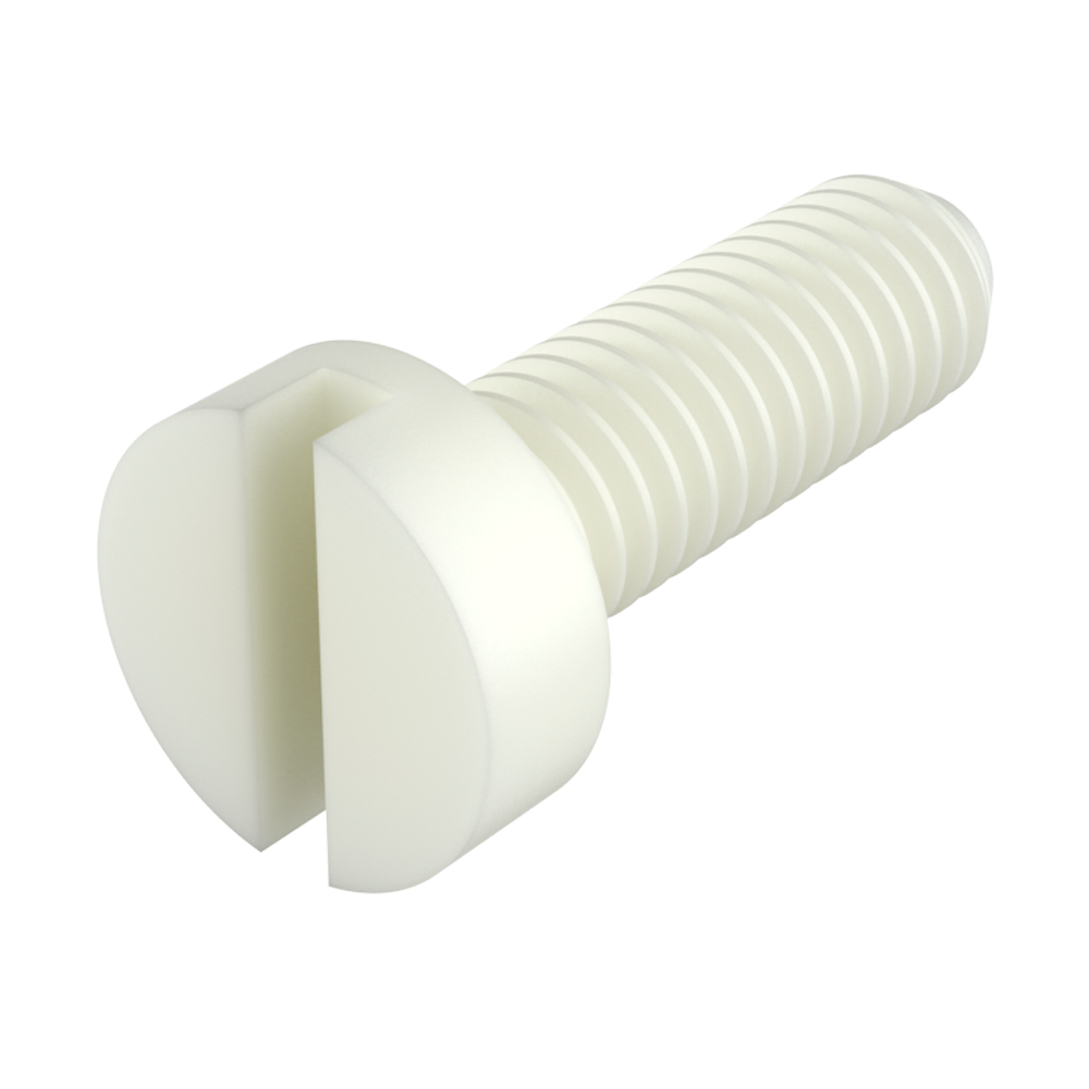Cheese slotted head screw
