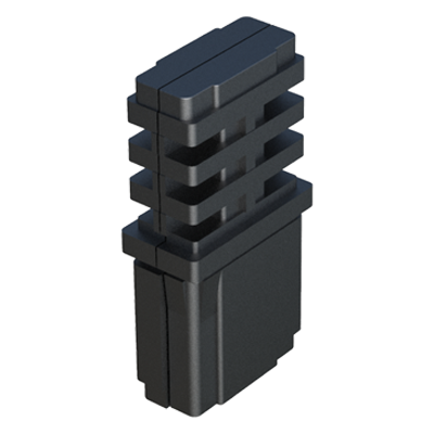 Straight connector for rectangular tubes