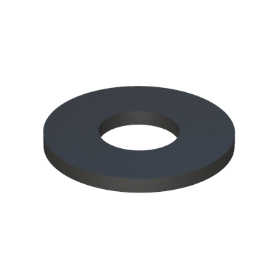 Washer-spacer-insulator without shoulder - Polyethylene (PE) LDPE